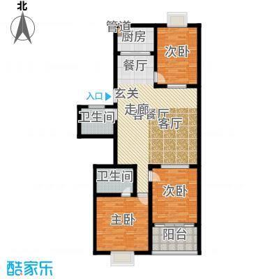 红园小区125.00㎡3居室面积12500m户型
