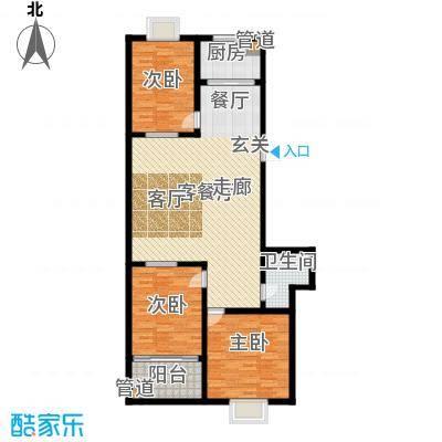 红园小区115.00㎡3居室面积11500m户型