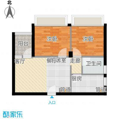 鑫瑞小城故事64.08㎡面积6408m户型