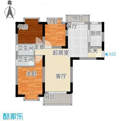 闽东国际城78.00㎡二号楼面积7800m户型