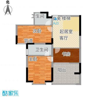 闽东国际城80.00㎡二号楼面积8000m户型
