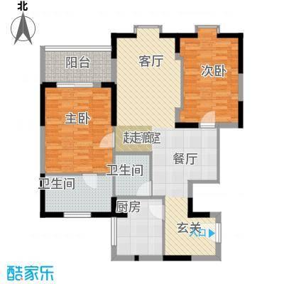 闽东国际城98.00㎡4#楼27层D2户面积9800m户型