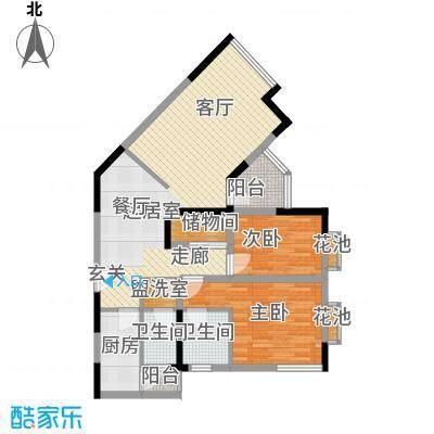 闽东国际城86.00㎡4#楼5-18层E1面积8600m户型