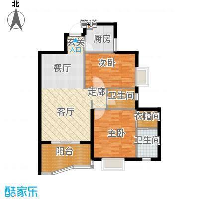 汉口中心嘉园99.89㎡B42面积9989m户型