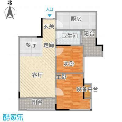 佛奥俊贤雅居66.45㎡12、13号楼面积6645m户型