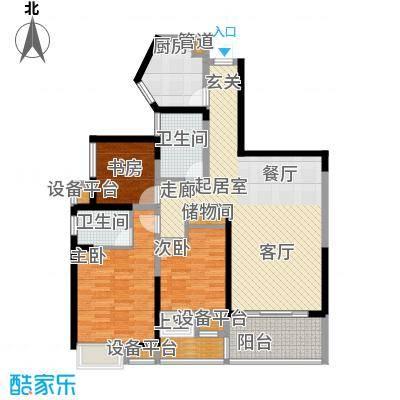 香港映象123.00㎡T9、T10C、D三面积12300m户型