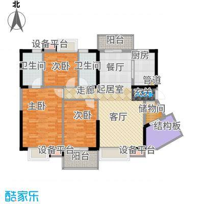 兰亭熙园121.00㎡6栋号面积12100m户型