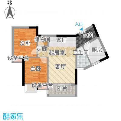 兰亭熙园76.00㎡78栋4号面积7600m户型