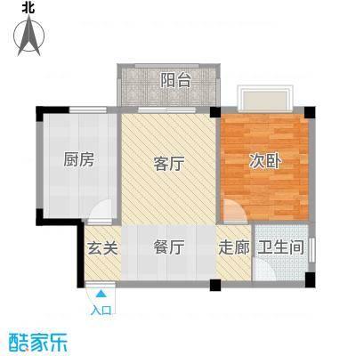 五里汉城51.67㎡面积5167m户型