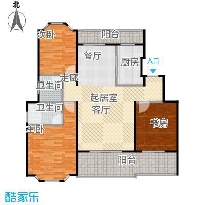 花田洋房D户型3室2卫1厨