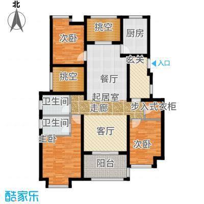 新城馥华里A5户型3室2卫1厨