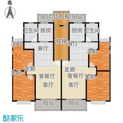 金都花好悦园二期88.00㎡房型: 二房; 面积段: 88 -92.77 平方米;户型