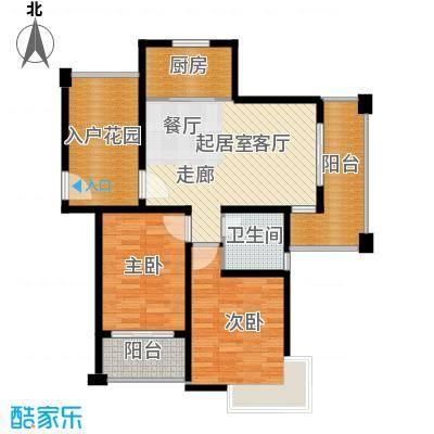 保利叶上海户型2室1卫1厨