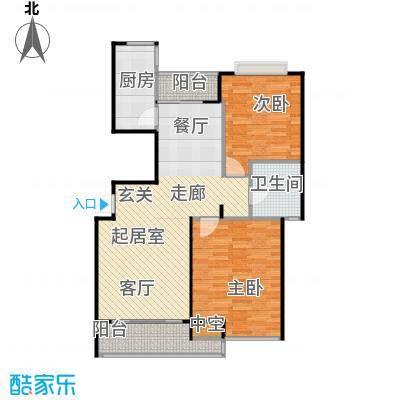 大华铂金华府--44套-宝山房地(2009)预字0091号户型2室1卫1厨