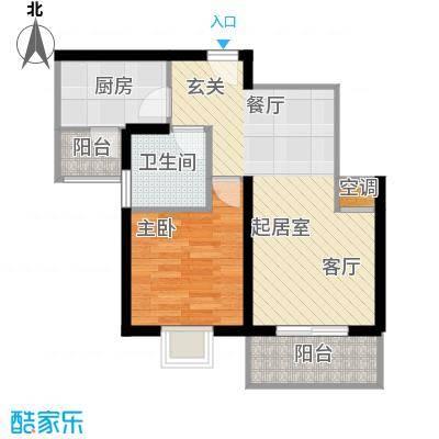 新梅绿岛苑60.00㎡房型: 一房; 面积段: 60 -70 平方米;户型