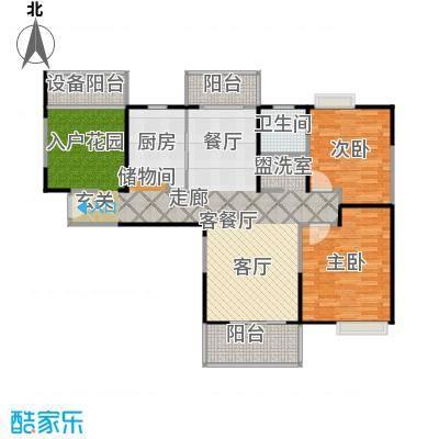 上海三湘海尚D3户型2室1厅1卫1厨