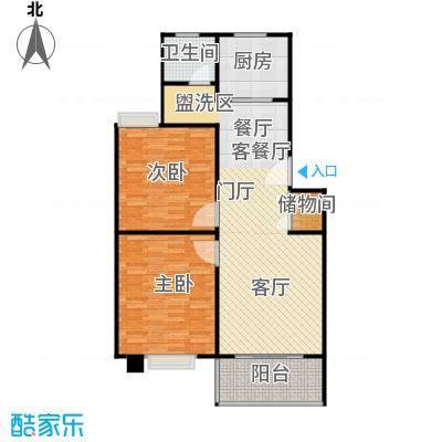 三湘雅苑88.00㎡房型: 二房; 面积段: 88 -93 平方米;户型