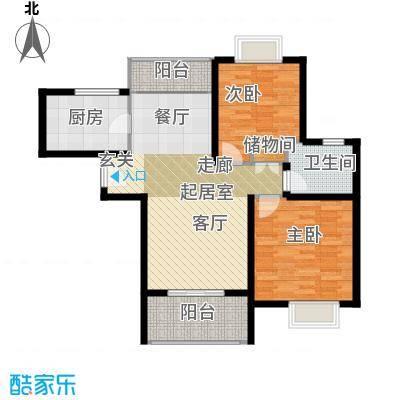 三花现代城三期B3户型2室1卫1厨
