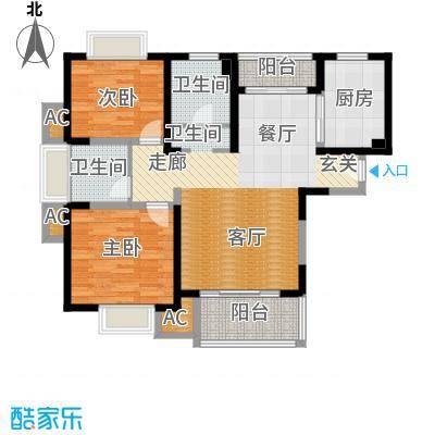 海尚明城(福地苑)户型2室1厅2卫1厨
