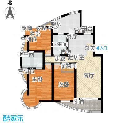 城投世纪名城三期113.00㎡房型: 三房; 面积段: 113 -130.09 平方米;户型