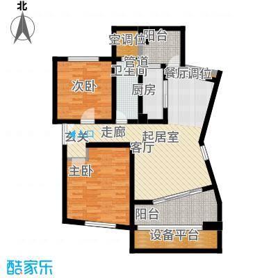 康桥水都一期91.80㎡房型: 二房; 面积段: 91.8 -99.3 平方米;户型