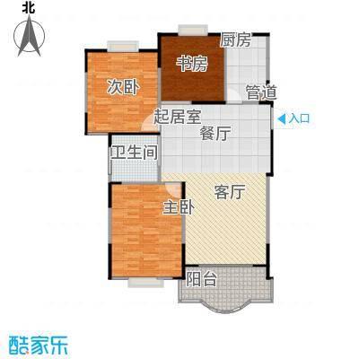 天馨花园八――十二期111.00㎡三房二厅一卫,面积约111平方米户型