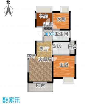 江桥万达广场公寓22-1号户型3室1厅1卫1厨