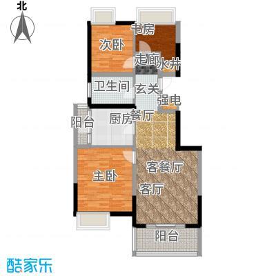 江桥万达广场公寓13-2号户型3室1厅1卫1厨