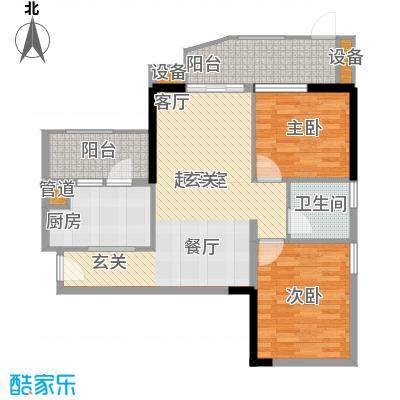 翠城花园87.66㎡20栋4层07单元面积8766m户型