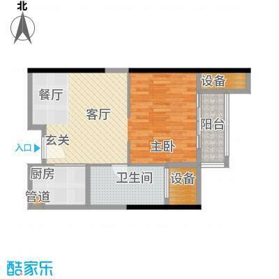 朱美拉公寓62.33㎡D座10单元1室面积6233m户型