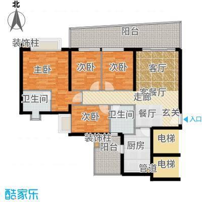保利林语山庄136.21㎡6G栋23-28层面积13621m户型