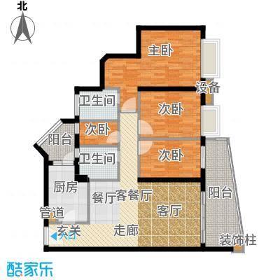 保利林语山庄120.77㎡6h栋05单位面积12077m户型