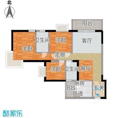 泓景花园108.06㎡B3栋04面积10806m户型