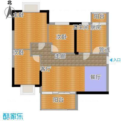 泓景花园89.82㎡B4栋4层3单位3面积8982m户型