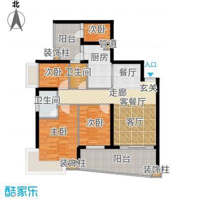 保利林语山庄119.94㎡6G栋23-28层面积11994m户型