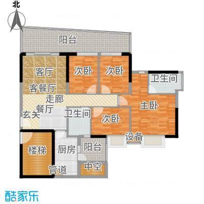 保利林语山庄134.56㎡6G栋23-28层面积13456m户型
