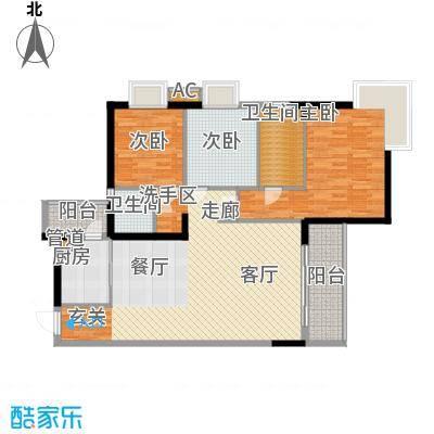 泓景花园113.28㎡B3栋2层5单位3面积11328m户型