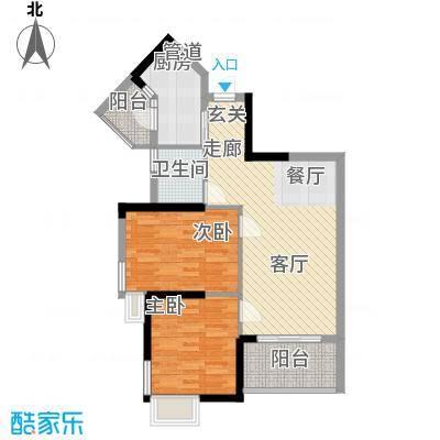 泓景花园83.54㎡B8栋4层02单位面积8354m户型