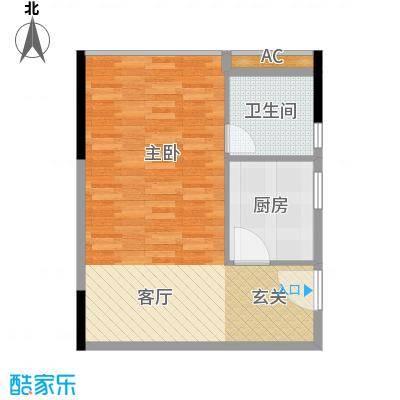 君林天下52.00㎡C1栋04单元1室面积5200m户型