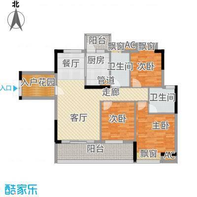 增城时代倾城106.00㎡1期1、8幢2面积10600m户型