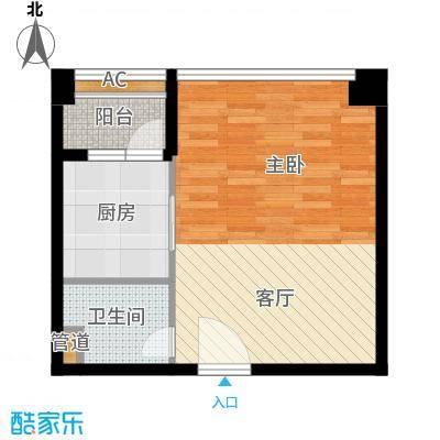 君林天下45.00㎡C1栋07单元1室面积4500m户型