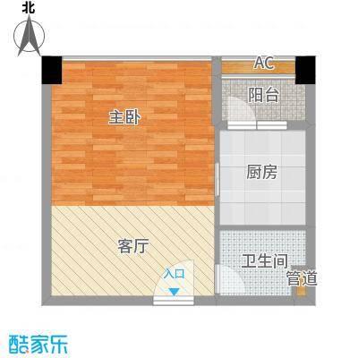 君林天下45.00㎡C1栋06单元1室面积4500m户型