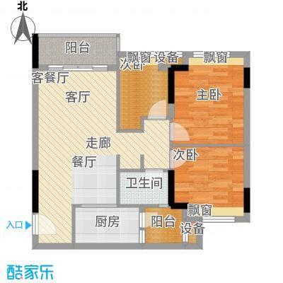 时尚明苑82.17㎡2栋标准层07单位面积8217m户型