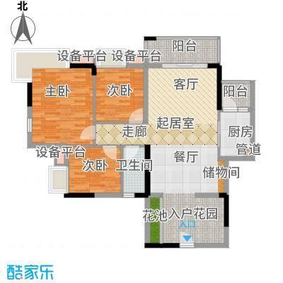 好美嘉园102.00㎡C-04单元3室面积10200m户型