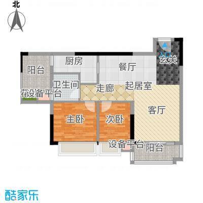好美嘉园88.00㎡C-01单元2室面积8800m户型