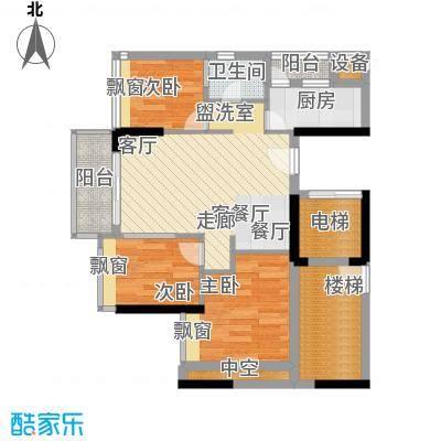 时尚明苑83.99㎡4栋标准层03单位面积8399m户型