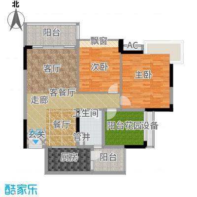上城湾畔116.23㎡A1栋3―17层标准面积11623m户型