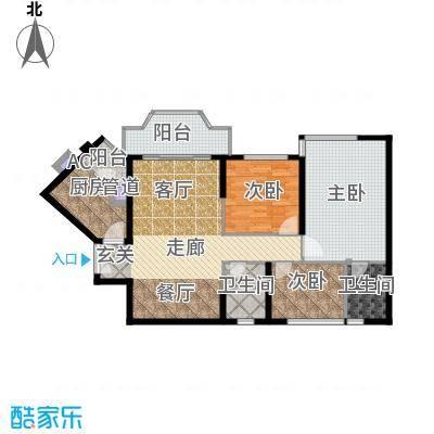 祈福新村活力花园114.00㎡面积11400m户型
