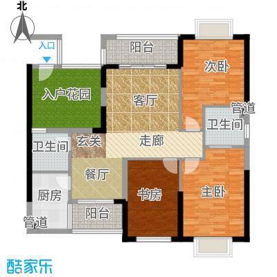 珠江怡景湾118.44㎡5号楼06单位面积11844m户型