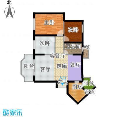 祈福新村活力花园98.38㎡5座503面积9838m户型